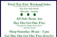 Tax-free shopping at Petal