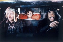 COURTESY OF THE CRITERION COLLECTION - TAXICAB CONFESSIONS: Armin Mueller-Stahl, Rosie Perez and Giancarlo Esposito in Night on Earth