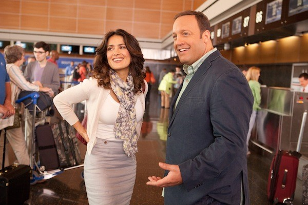TEACHER-TEACHER CONFERENCE: Salma Hayek and Kevin James in Here Comes the Boom (Photo: Sony)