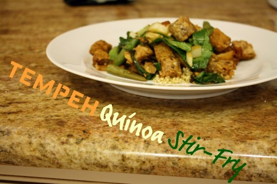 Tempeh and Qunioa Stir-Fry