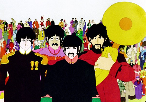 The Beatles, very animated in Yellow Submarine (Photo: EMI)