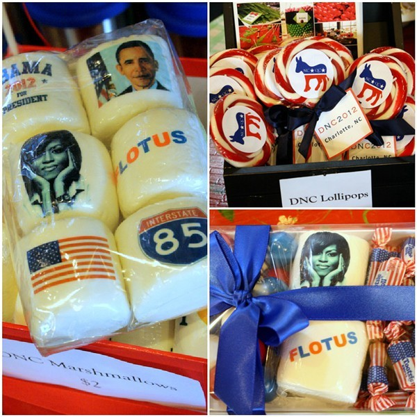 The Boulevard at South End sells DNC candy from Curlicues and Confections.