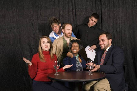 The cast of Beyond Therapy, Tania Kelly in the middle - BOBBY COCHRAN