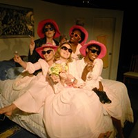 The cast of Five Women Wearing the Same Dress