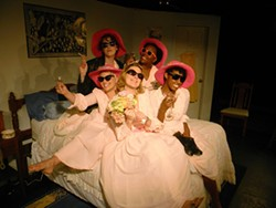 THREE BONE THEATRE - The cast of Five Women Wearing the Same Dress