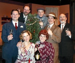 RON CHISHOLM - The cast of SHE LOVES ME, clockwise from bottom - right: Lisa Smith, Susan Roberts Knowlson, Jim Hill, - Bob Tully, Ashby Blakely, Steven Martin, William - Penfield.