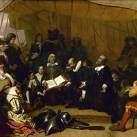 THE EMBARKATION OF THE PILGRIMS by Robert Weir
