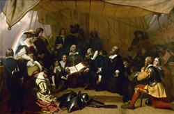 COURTESY OF THE MINT MUSEUM - THE EMBARKATION OF THE PILGRIMS by Robert Weir