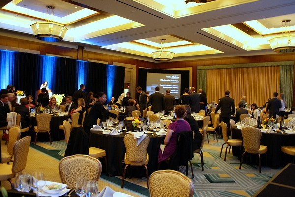 The event was held in a ball room of the Ritz Carlton Hotel in Uptown.