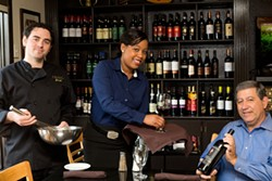 MERT JONES - The family affair includes (from left) Joe the chef, Tarra the server and Jimmy the owner