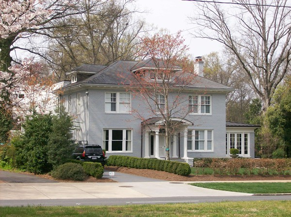 The former Anderson family home still stands in Myers Park, on Queens Road.