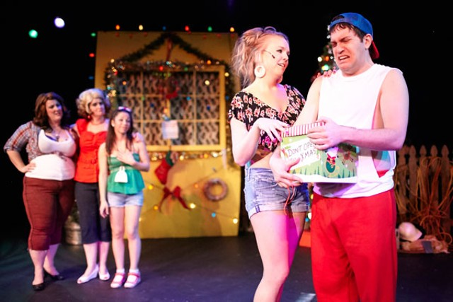 theater review the great american trailer park christmas musical performing arts creative loafing charlotte - 12 Dates Of Christmas Trailer