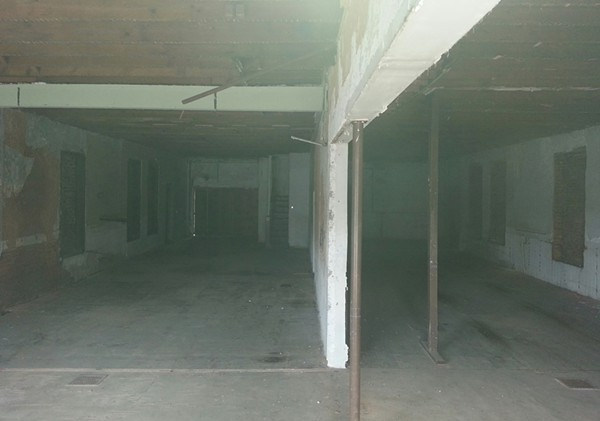 The interior looks much like it did after the last tenant vacated the structure nearly 40 years ago.