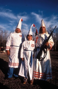 The Ku Klux Klan (yeah those idiots) is notorious for using racial epithets to demean minorities. - ZUMA ARCHIVE
