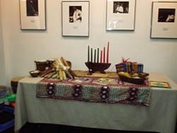 COURTESY OF THE AFRO-AMERICAN CULTURAL CENTER - The Kwanzaa kinara display