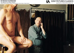 SUZANNE HANOVER / UNITED ARTISTS & SONY PICTURES CLASSICS - THE NAKED TRUTH Professor Sandiford (John Malkovich, right) sends mixed signals to his students in Art School Confidential