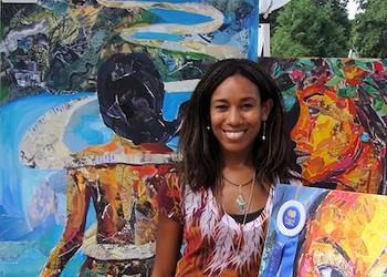 The pieces of artist Monique Luck