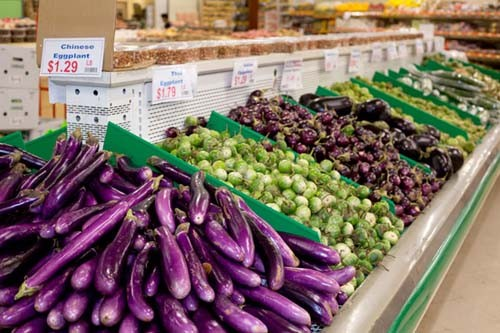 The produce section at Super G Mart