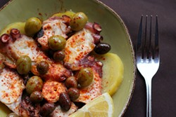 KEIA MASTRIANNI - The Pulpo at Malabar, served Galician-style with potatoes, olives and smoked paprika