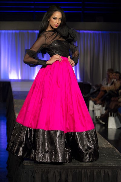 The second annual Mode Noir fashion event takes place March 2 at Packard Place. - G BURKE IMAGES