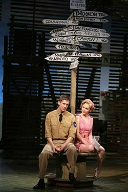 THE SIGNS ARE THERE: Andrew Samonsky and Laura Osnes are the new racists in South Pacific.