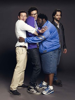 The stars of Undateable, from left: Brent Morin, Rick Glassman, Ron Funches and Chris D'Elia