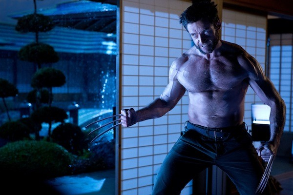 THE VEIN EVENT: Logan (Hugh Jackman) and his rippling muscles prepare for battle in The Wolverine. (Photo: Fox)