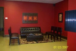 The waiting room of Bodyart By Dave