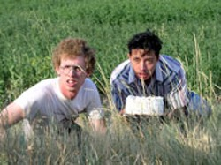 FOX SEARCHLIGHT - THEIR OWN PRIVATE IDAHO Societal spuds - Napoleon (Jon Heder) and Pedro (Efren Ramirez) take - the cake in Napoleon Dynamite