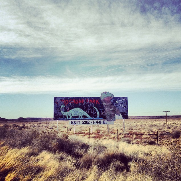 This dino-sighting is somewhat legit. Found in the petrified forest in Arizona.