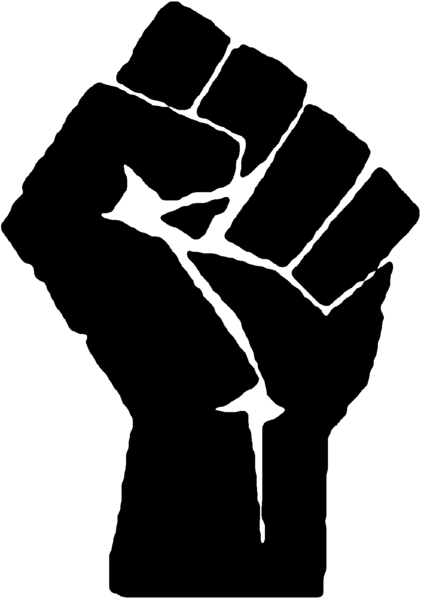 The iconic power fist is attributed to the Assyrian goddess Ishtar; it was used as the logo for the Industrial Workers of the World in 1917 and was popularized in 1948 by a revolutionary print shop in Mexico.