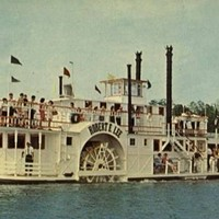 This postcard from the 1960s shows the Robert E. Lee on Lake Norman at the height of the riverboat's popularity.