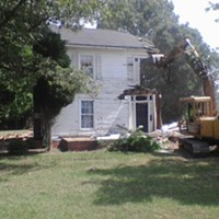 This rare 1890s farmhouse, which sat less than a mile west of the Wearn House, was demolished two years ago.