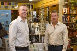 Tim Hamilton (left) and Ron Wootten - ANGUS LAMOND