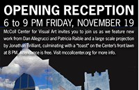 Opening reception at McColl Center