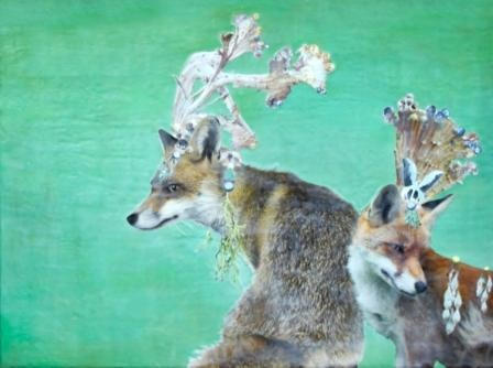 LAKEwe_could_be_heroes__2012__encaustic_collage__36x48.jpg