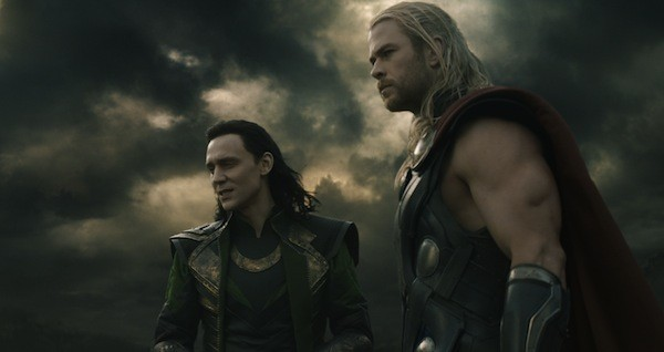 Tom Hiddleston and Chris Hemsworth in Thor: The Dark World (Photo: Disney & Marvel)