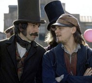 TOP HAT, BLACK TIE AND TAILS A dapper Daniel Day-Lewis converses with Leonardo DiCaprio in Gangs of New York