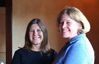 Tricia Maddrey and Bonnie Warford