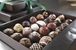 ANGUS LAMOND - TRUFFLING: A sample of the morsels at Davidson Chocolate Co.
