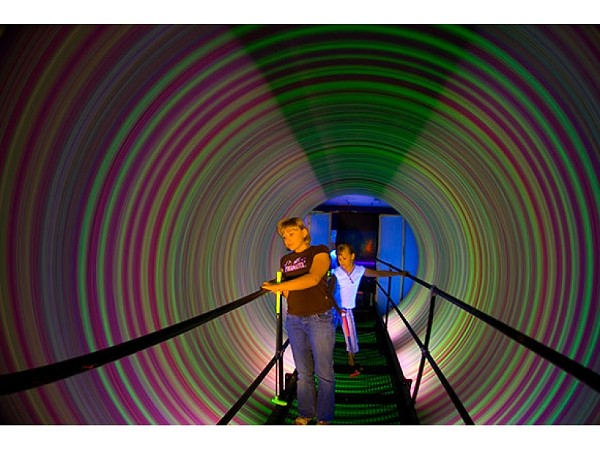 Hole in One: Kids get psychedelicized at Purple Planet. (Photo courtesy of Purple Planet)
