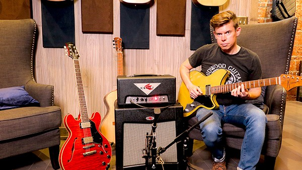Midwood Guitar Studio manager Dan Hood picks a Novo Serus T electric in a demo video.
