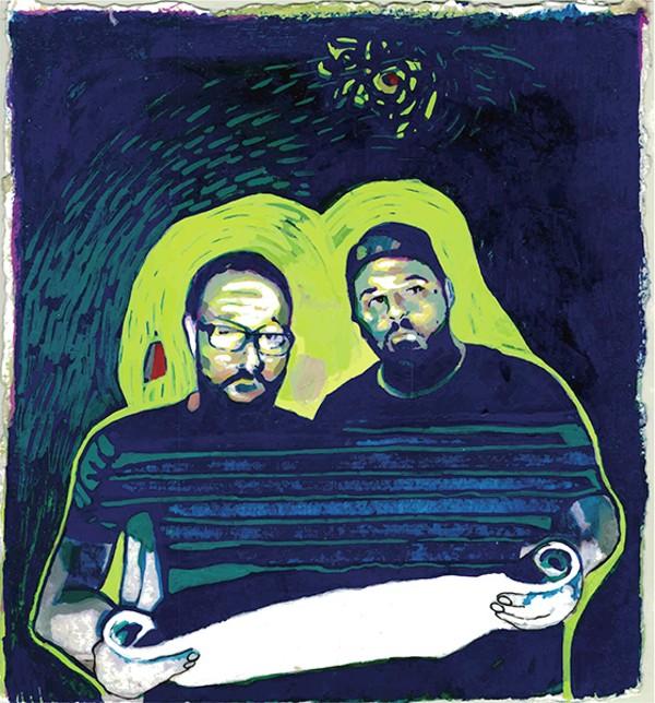 Dead Sea $crilla: Red Jesse (left) and Fred Rock.
