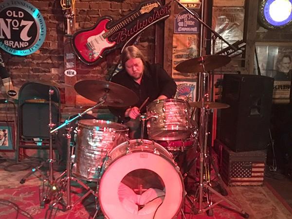 Smokin' Js drummer James Brock pounds out a backbeat. (Photo by Pat Moran)