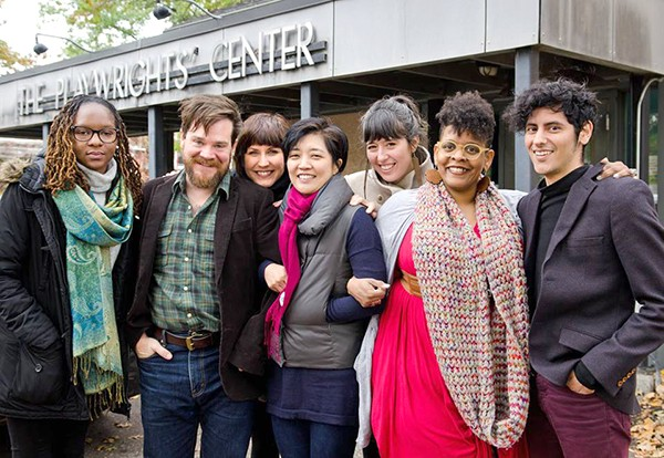 Rose (second from right) gathers with her fellow playwrights in St. Paul, Minnesota. (Photo Courtesy of the Playwrights' Center.)