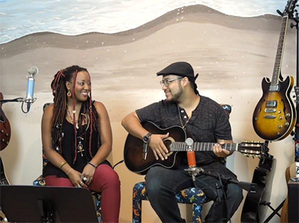 Adayla Turner and her guitar-playing husband Rico Nye played TSC in August 2017.