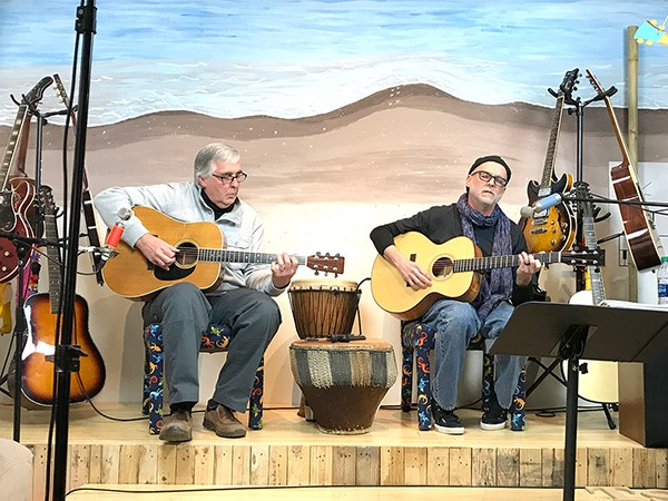"""Spreitzer (right) and Edwards play a """"sweet song to hang yourself to."""" (Photo: Mark Kemp)"""