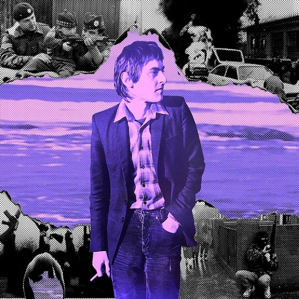 'Wasteground' album cover: Mickey Stephens as a young punk in Northern Ireland.