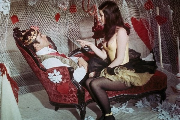 Alan Bates and Genevieve Bujold in King of Hearts (Photo: Cohen)