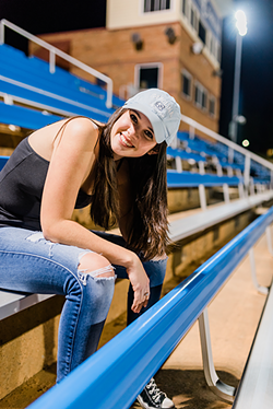 Savannah Kasay on the bleachers (Photo courtesy of Savannah Kasay)